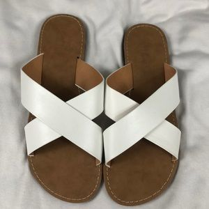 Charlotte Russe White Sandals Size 7 NWOT